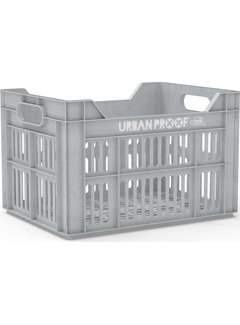 Urban Proof fietskrat 30l light grey - recycled kratten