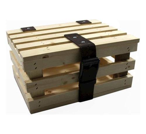 ML transport krat mini blank vuren hout +deksel kratten
