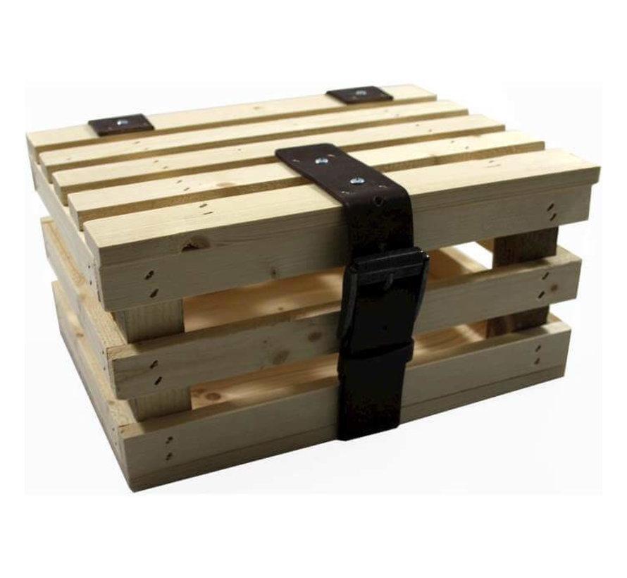 transport krat mini blank vuren hout +deksel kratten