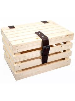 ML transport krat blank vuren hout +deksel kratten