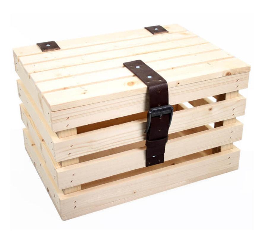 transport krat blank vuren hout +deksel kratten