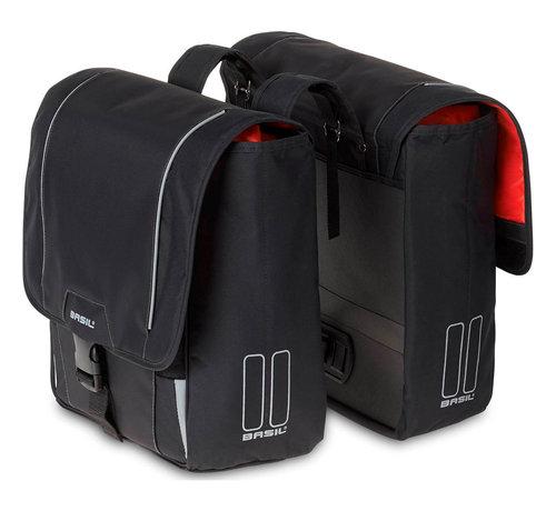 Basil dubbele tas sport design zwart Tassen