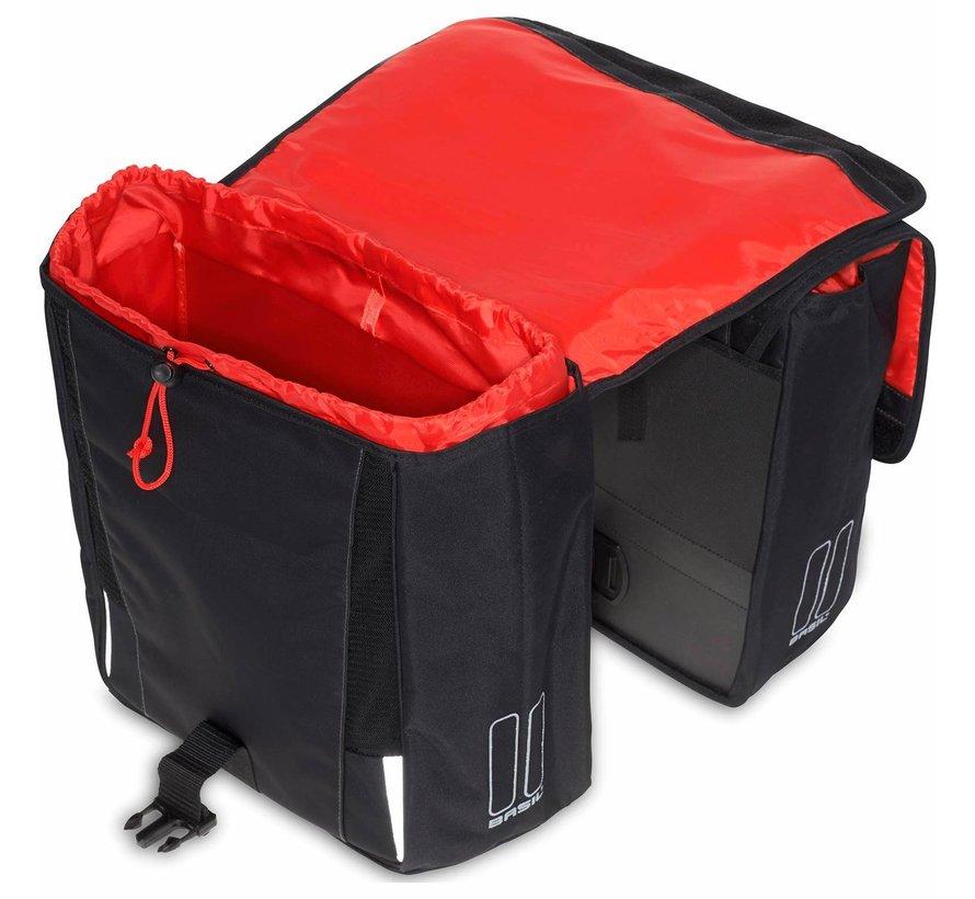 dubbele tas sport design zwart Tassen