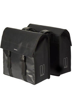 Basil dubbele tas urban load zwart Tassen