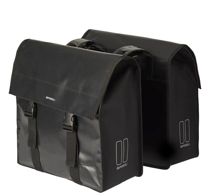 dubbele tas urban load zwart Tassen
