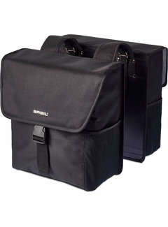 Basil dubbele tas go solid zwart Tassen