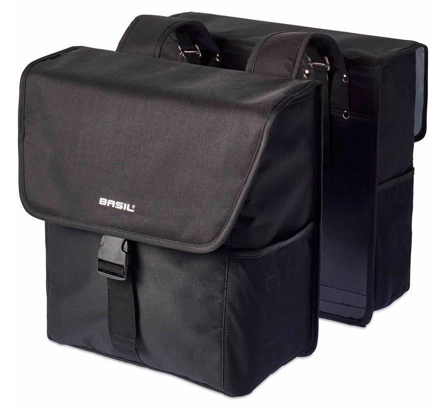 dubbele tas go solid zwart Tassen