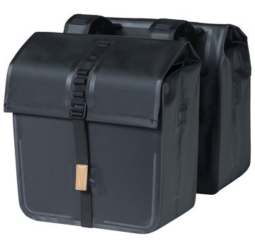 Basil dubbele tas urban dry zwart Tassen