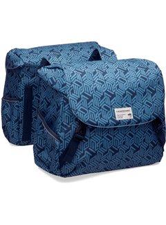 New Looxs dubbele tas mondi joy linea blauw Tassen