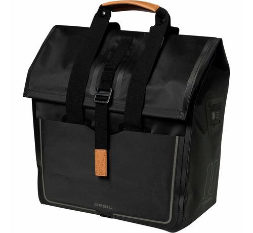 Basil shoppertas urban dry matt black Tassen