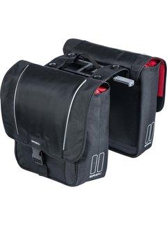 Basil dubbele tas sport design mik zwart Tassen