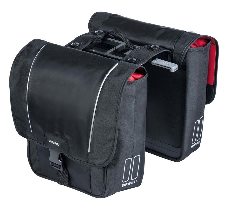 dubbele tas sport design mik zwart Tassen