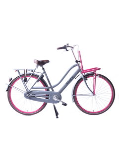 Static royal 3 v grijs roze Damesfiets
