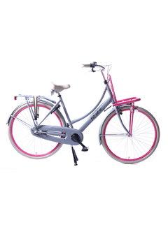 Static transporter 3v grijs roze Damesfiets