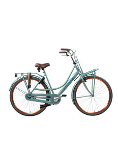 Static mona metallic groen Dames Transportfiets