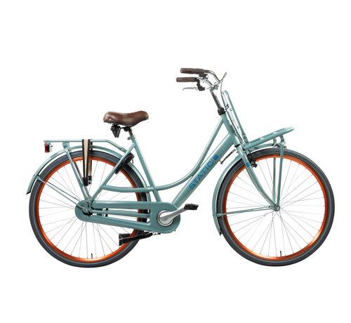 Static mona metallic groen Dames Transportfiets
