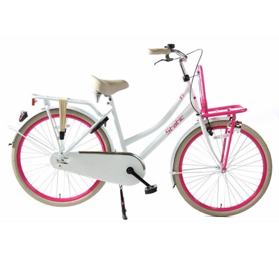 cargo nexus 3 wit roze Dames Transportfiets