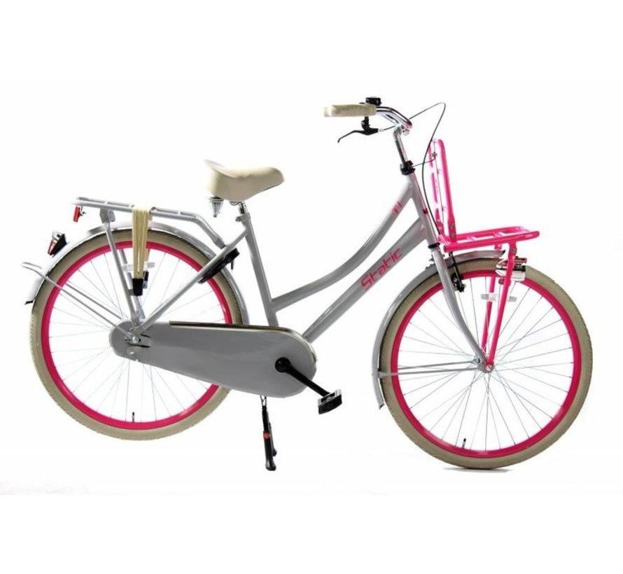 cargo nexus 3 grijs roze Dames Transportfiets