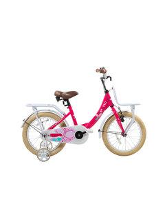 Static transporter roze 16 inch Meisjesfiets