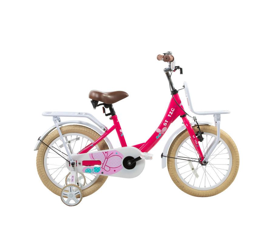 transporter roze 16 inch Meisjesfiets