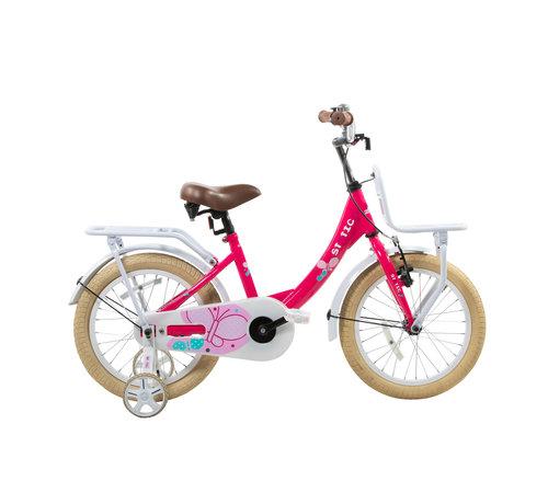 Static transporter roze 12 inch Meisjesfiets