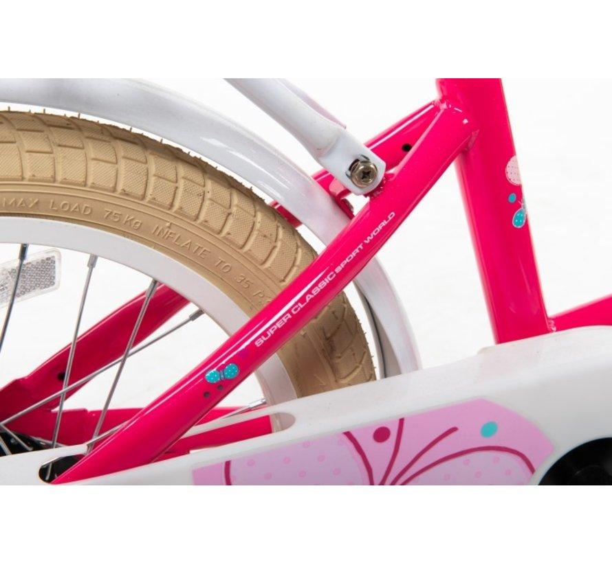 transporter roze 12 inch Meisjesfiets