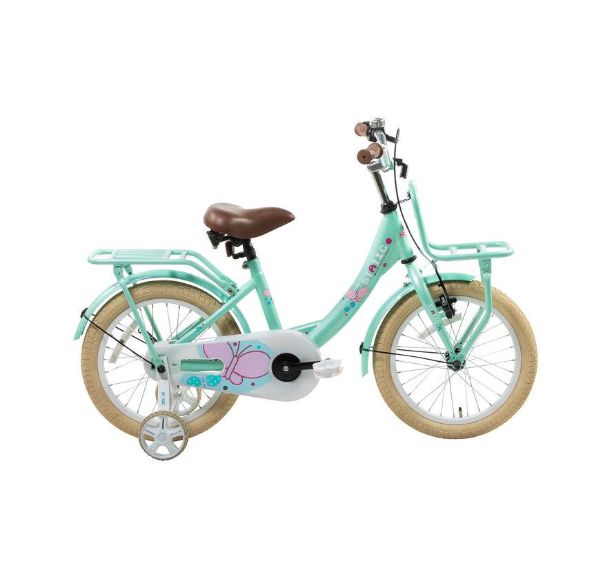 transporter groen 16 inch Meisjesfiets