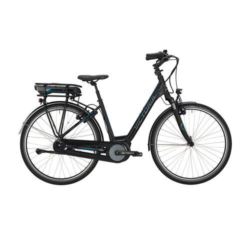 Victoria etrekking 7.4 h black matt/blue glossy 2021 Elektrische fiets dames