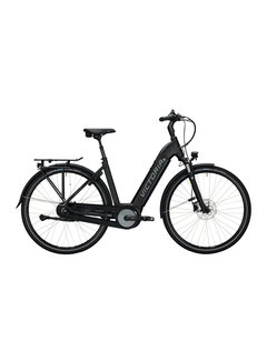 Victoria etrekking 11.4 h deep black matt/blue Elektrische fiets dames