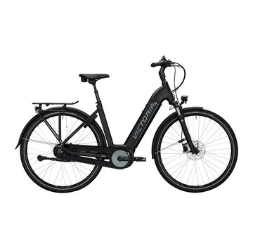 Victoria etrekking 11.4 h deep black matt/blue 2020 Elektrische fiets dames