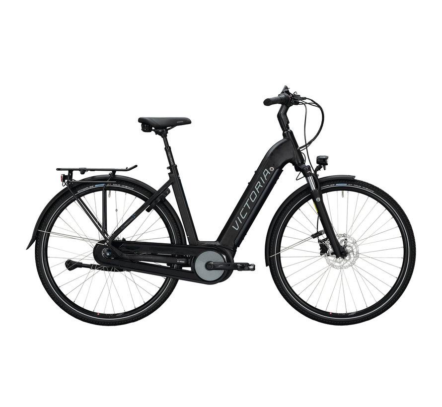etrekking 11.4 h deep black matt/blue 2020 Elektrische fiets dames