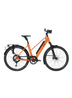 Qwic e-bike performance rd11 speed trapez dutch orange Elektrische fiets dames