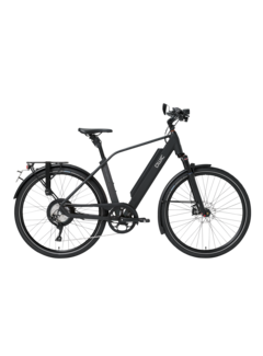 Qwic e-bike performance rd11 speed diamond matt black Elektrische fiets heren