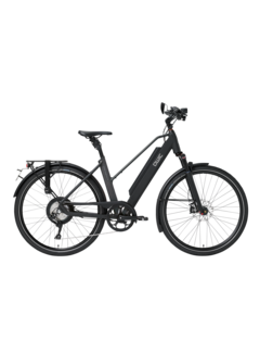 Qwic e-bike performance rd11 speed trapez matt black Elektrische fiets dames
