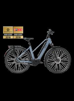 Qwic e-bike performance mn380 trapez steel blue Elektrische fiets dames