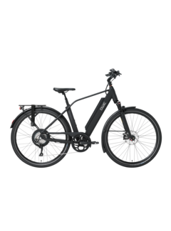 Qwic e-bike performance rd11 diamond matte black Elektrische fiets heren