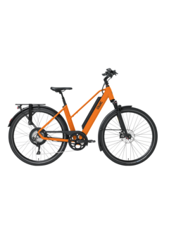Qwic e-bike performance rd11 trapez dutch orange Elektrische fiets dames