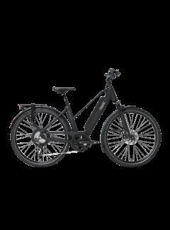 Qwic e-bike performance rd11 trapez matte black Elektrische fiets dames