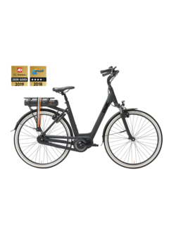 Qwic e-bike premium mn7 matte black Elektrische fiets dames