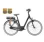 e-bike premium mn7 matte black Elektrische fiets dames