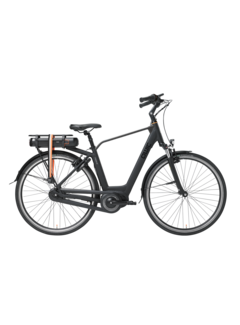 Qwic e-bike premium mn7vv matte black Elektrische fiets heren