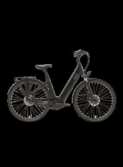 Qwic e-bike premium i mn7+belt charcoal black Elektrische fiets dames