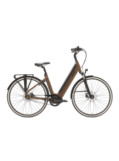 Qwic e-bike premium i mn7+belt walnut brown Elektrische fiets heren