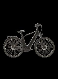 Qwic e-bike premium i mn7+belt charcoal black Elektrische fiets heren