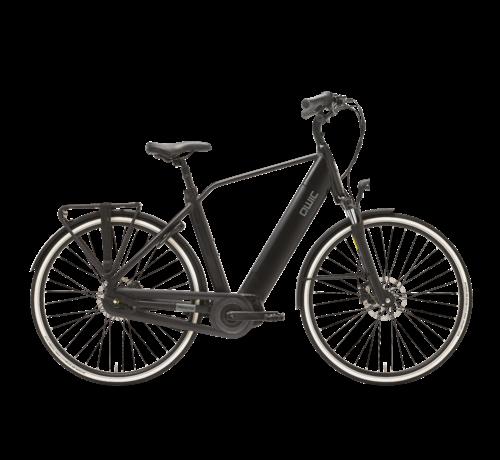 Qwic e-bike premium i mn7+ charcoal black Elektrische fiets heren