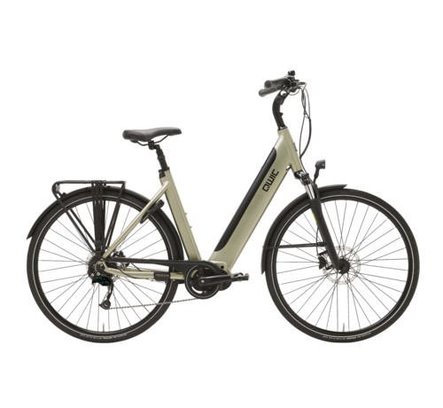 Qwic e-bike premium i md9 timber green Elektrische fiets dames