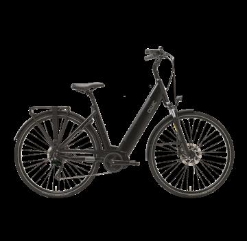 Qwic e-bike premium i md9 charcoal black Elektrische fiets dames