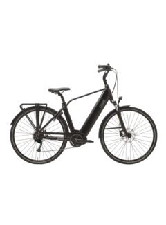 Qwic e-bike premium i md9 charcoal black Elektrische fiets heren