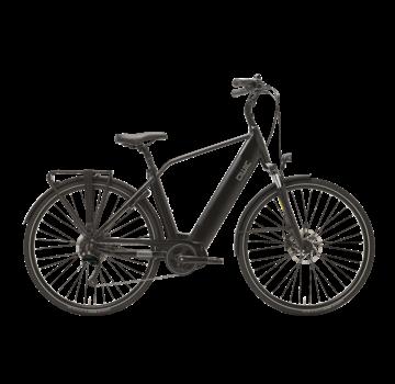 Qwic e-bike premium i md9 charcoal black Elektrische fiets heren