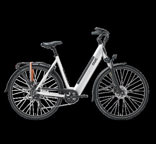 Qwic e-bike urban rd9 brushed aluminum Elektrische fiets dames